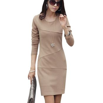 Women Solid Slim Bodycon Long Sleeve Wrap Dress Sexy Cocktail Mini Dress Newest Best Women Dresses