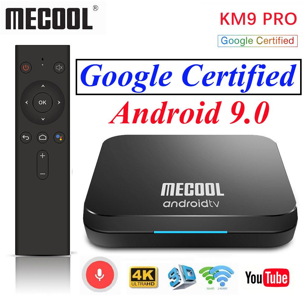 5pcs MECOOL KM9 PRO Android 9 0 TV Box Amlogic S905X2 4G DDR4 32G 4K Google