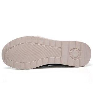 Image 4 - STQ 2020 Autumn Women Flats Shoes Platform Sneakers Shoes Leather Suede Platform Shoes Slip On Flats Creepers Moccasins 3507
