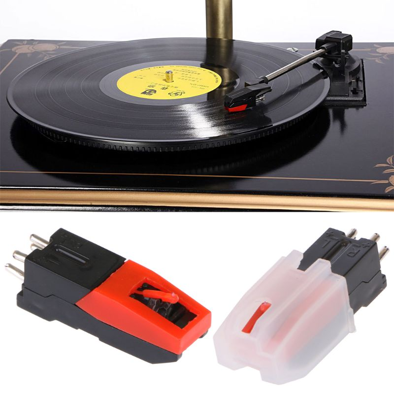 Vinyl Record Turntable Stereo Ceramic Pickup Cartridge Stylus Phonographs Supply