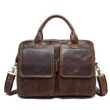 Travel Handbags European And American Horizontal Men's Briefcases Genuine Leather Men's Oblique Bag Single Shoulder Bag 161 horizontal single joint potentiometer g100k