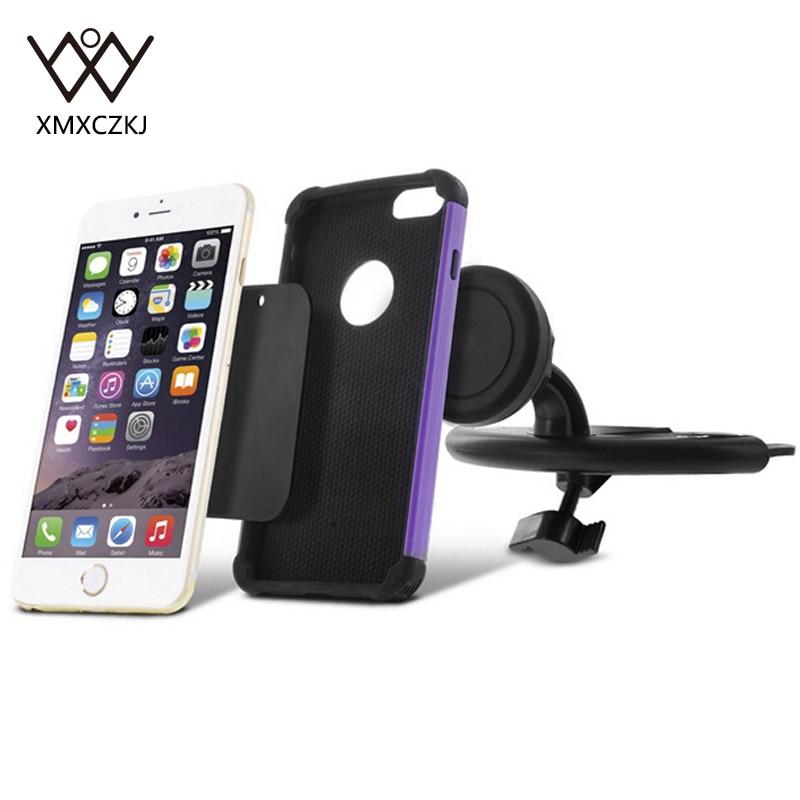 XMXCZKJ Universal CD Slot Magnetic Car Mount Holder for iPhone 8 7 6 - Ανταλλακτικά και αξεσουάρ κινητών τηλεφώνων - Φωτογραφία 4