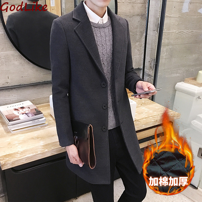 Man Classic Fashion Thick Trench Coats Black Red Army 5xl Mens Long Trench Slim Fit Overcoat Men Coats Fashion Trench Outerwear