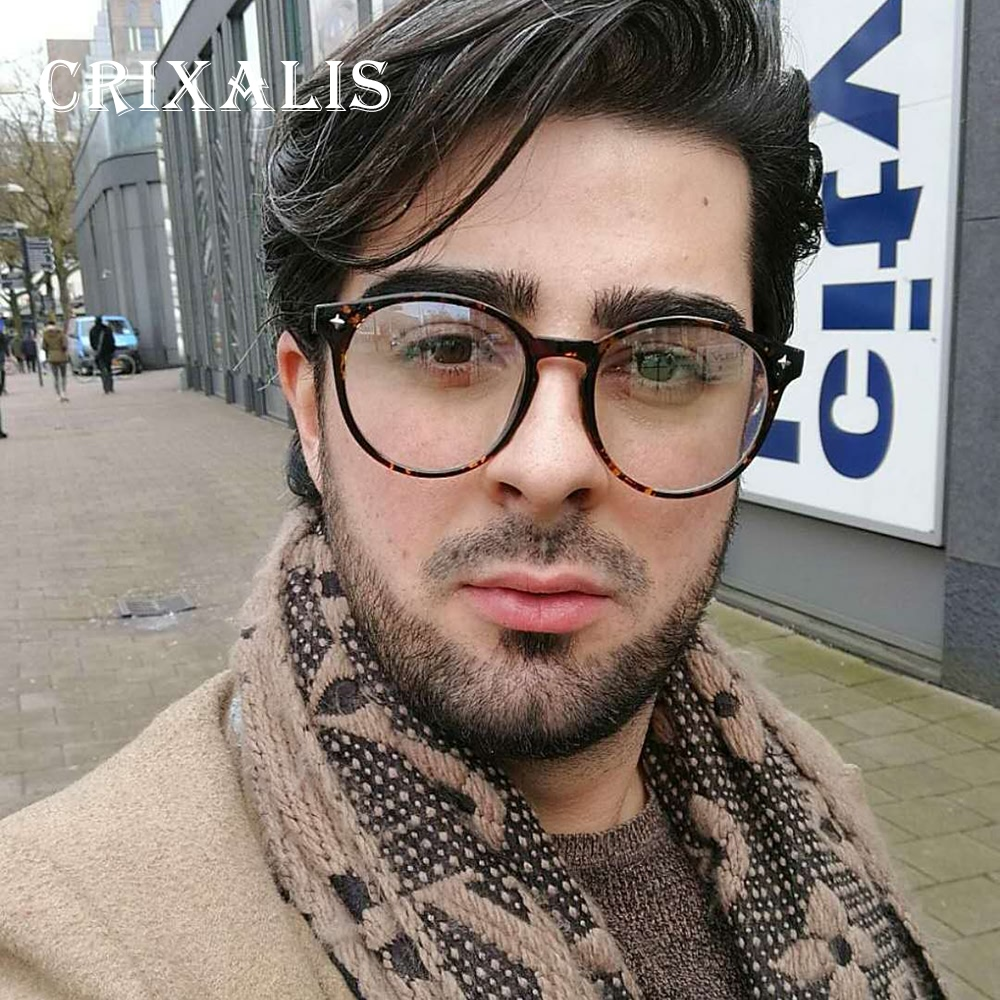 fcf3ea3ac6 Crixalis 2018 Glasses Frame Men Oversized Round Eyeglasses Women Brand Designer  Fashion Circle Glasses Clear PG2682-in Eyewear Frames from Apparel ...