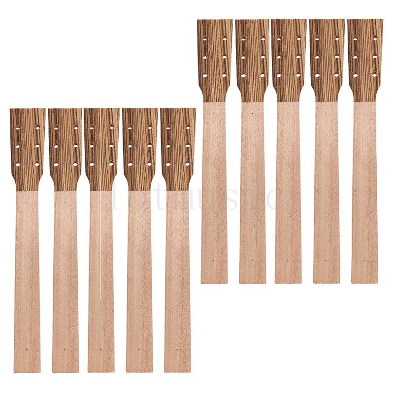 Guitare acoustique cou pièces de rechange Luthier réparation bricolage inachevé Zebrawood tête placage paquet de 10