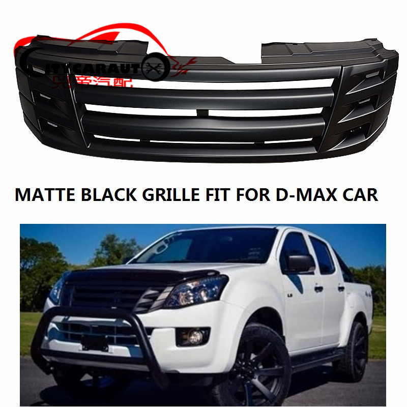 CITYCARAUTO MATTE BLACK front Racing grill grille ABS front trims Replacement Grills Raptor fit for ISUZU D-MAX DMAX 2012-2017 kb lb isuzu d max h beam connecting rod for 4x4 d max isuzu dmax turbo diesel engine parts common rail 4jj1 tcx i4 light strong