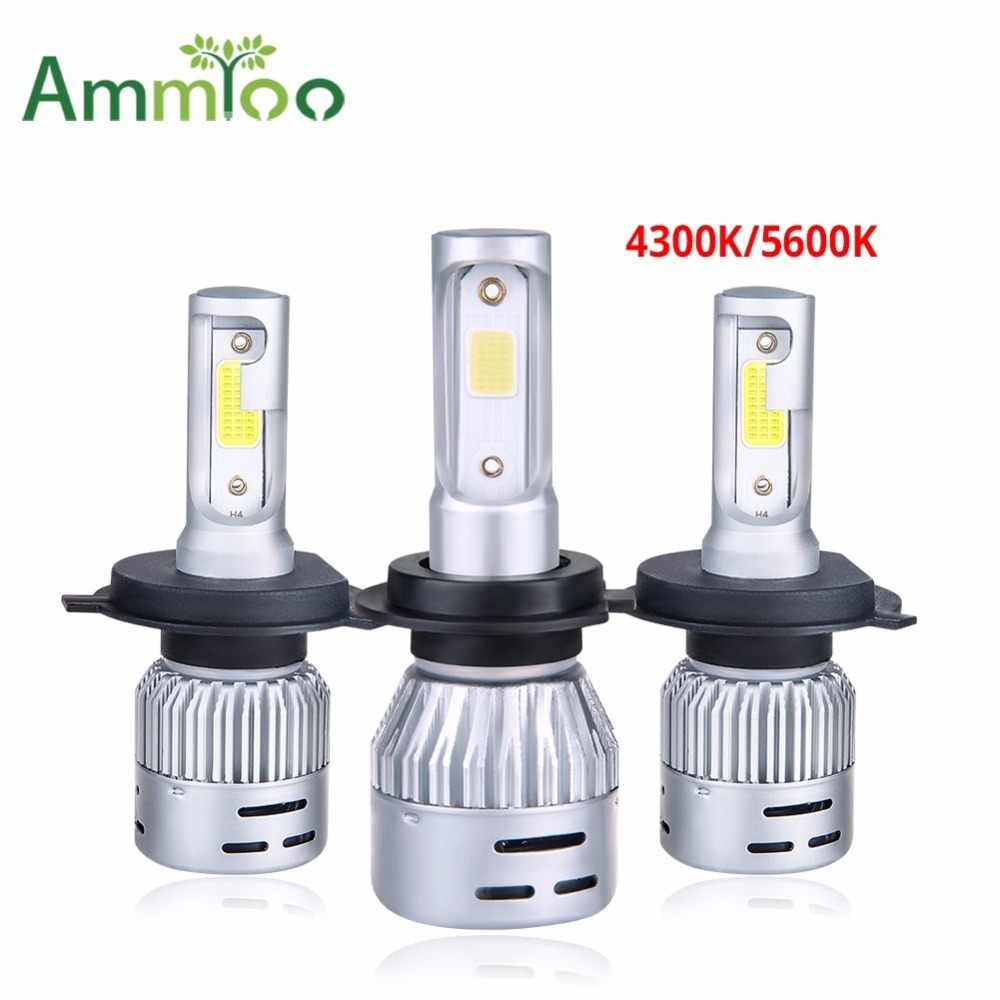 AmmToo H4 Led Car Headlight H7 LED Lampada 9005 9006 Fog light H1 H11 HB3 HB4 72W 8000LM Luces Led Para Auto 4300K 6500K Bulb