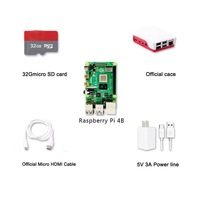 Latest! Raspberry Pi 4 Model B 4GB RAM of LPDDR4 SDRAM 1.5GHz 64-bit Quad-core