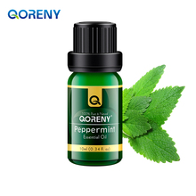 Famous brand QORENY pure natural aromatherapy peppermint oil Moisten throat remove halitosis Relieve itching Relax Sleeping 10ml