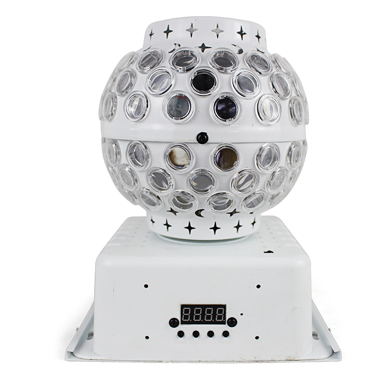 LED Mini effet Laser lumière 12 pièces lampe perles 3 W lanterne magique boule lumières télécommande pour fête Disco vacances décoration