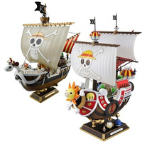 One Piece Straw Hat Boat Luffy Pirate Ship Model 28CM PVC Action Figure Collection Kids Anime Toys