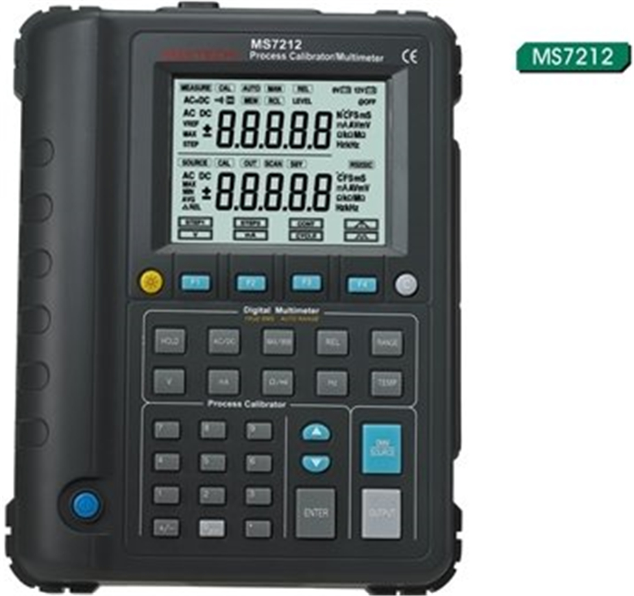 MASTECH MS7212 Multifunction Process Calibrator / Correction Voltage and Current Frequency / RS232 / USB Signal gen hantek ht824 multifunction process calibrator correction voltage and current frequency usb signal generator industry inst