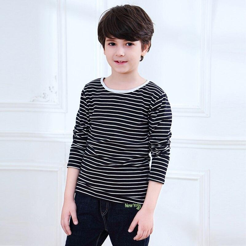 2-12 Yrs Kids Cotton Long Sleeve T Shirts Striped Boys Girls Basic Tops Tees Children Autumn Clothes T-shirt Sweatshirt 3