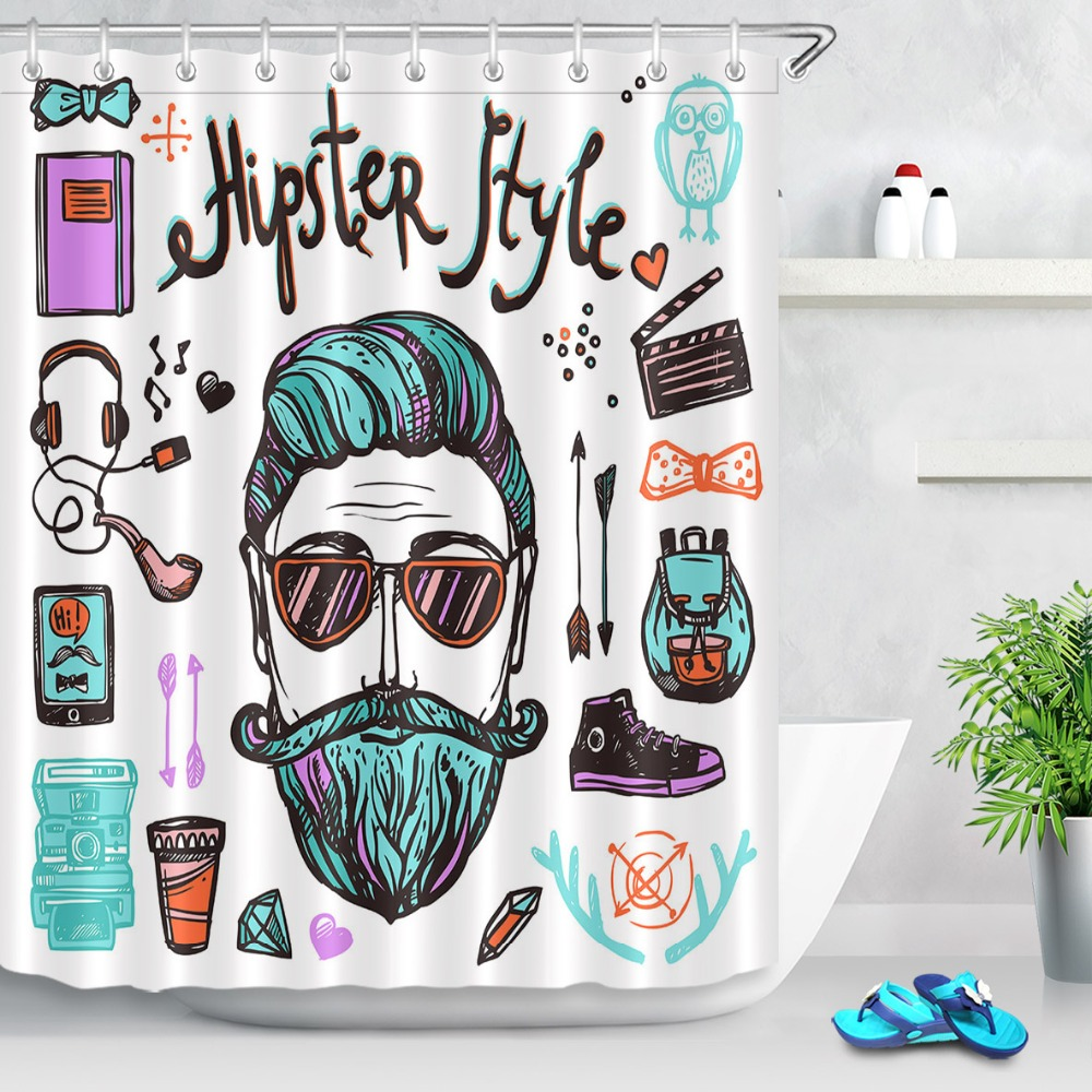 Bathroom Fixtures 2019 Latest Design 150x180cm Waterproof Shower Curtain Creative Funny Uni-angle Animal And Cat Pattern Polyester Fabric With 12 Hooks For Bathroom 100% Guarantee