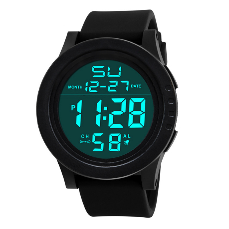 Fashion Double Display Electronic Watch Multi-functional Outdoor Sports Waterproof Cold Light Men's Business Electronic Watch(China)