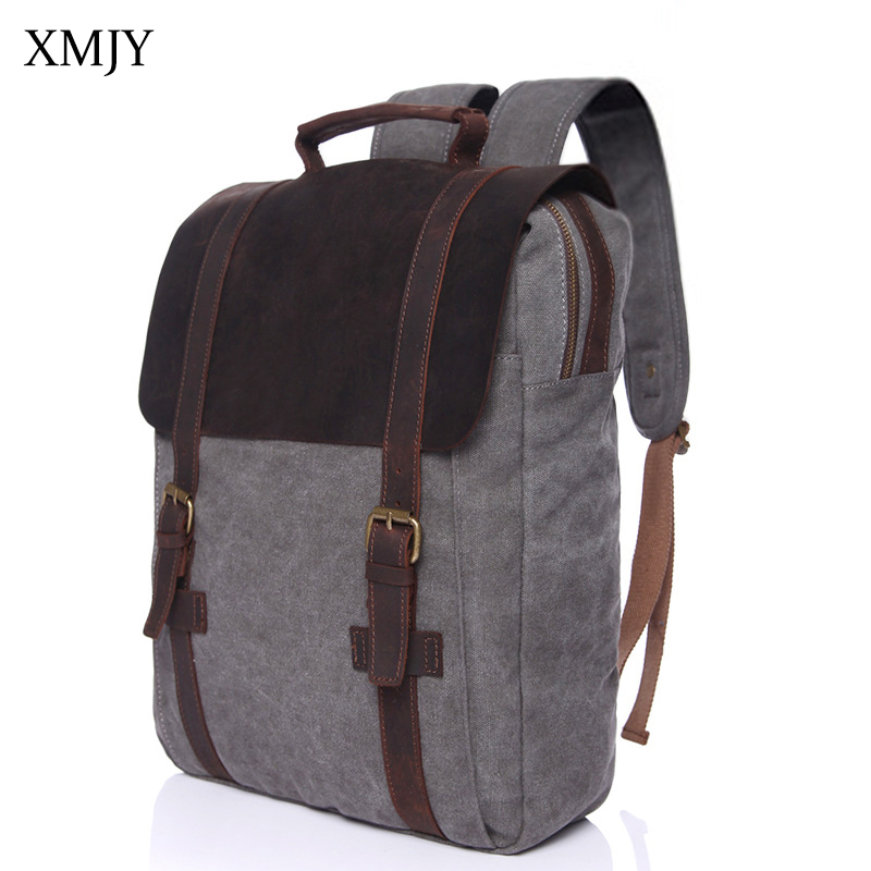 XMJY Men Women Canvas Backpacks School Bags for Teenagers Boys Girls Large Capacity Laptop Backpack Casual Rucksacks Travel Bag 2017 new dc superhero wonder woman laptop backpack bags unisex casual school bags travel shoulder bag for teenagers