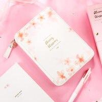 Yiwi flor de cerezo 155x220mm bolsa de cremallera planificador Rosa chica Hobo cuaderno papelería oficina