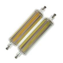 Dimmable 10W r7s led cob lamp 360 degree 118mm bulb J118 tube dimmable 220V 110V replace halogen lamp 25mm diameter AC85-265V