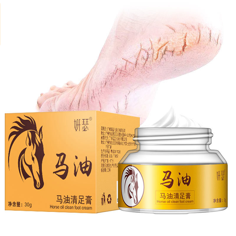 Japan's Horse Oil Hand Foot Crack Cream Heel Chapped Peeling Foot Hand Repair Anti Dry Crack Skin Ointment Cream 30g maxam moisturizing multi effect hand cream conjoined ex gratia pack увлажняющий питательный крем для рук 80 г multi effect repair hand cream 30g