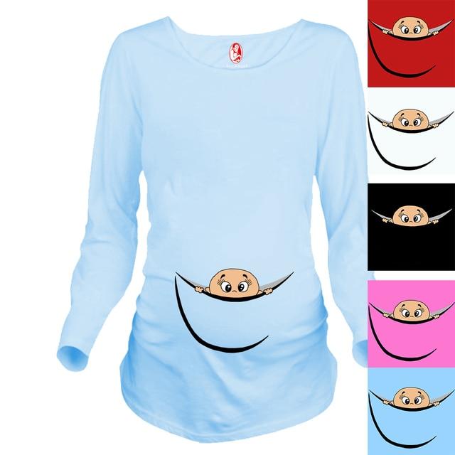 Новый Дизайн Материнства Рубашка 100% Хлопок Материнства Clothing для беременных женщин Плюс Размер XXL Бесплатная Доставка
