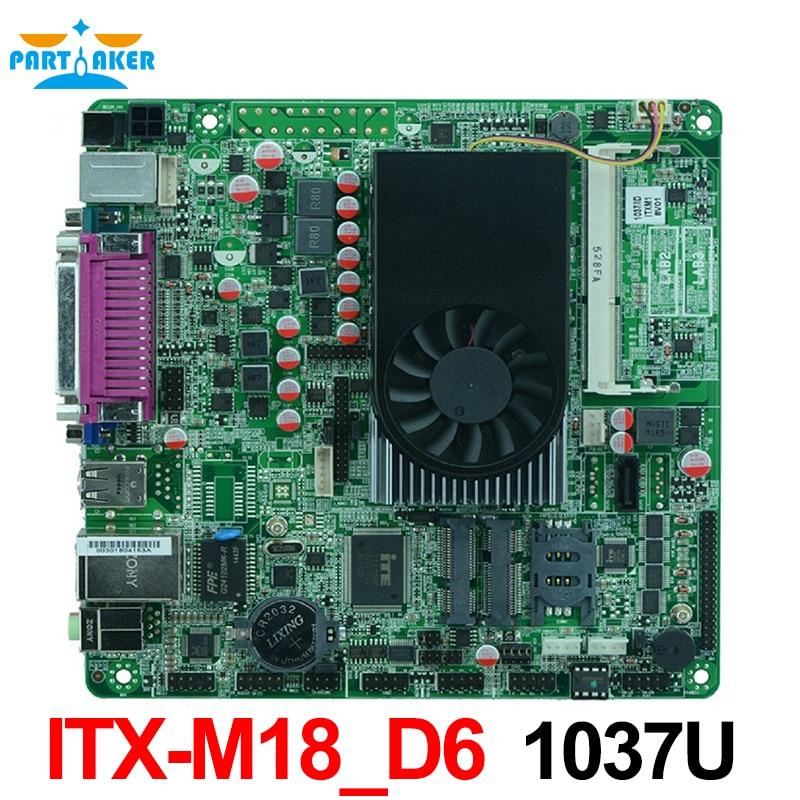 1037U DC 12V Dual 24 bits LVDS POS Industrial Motherboards ATM Motherboards Mini ITX Industrial Motherboards ITX-M18_D6 mini itx industrial motherboard 1037u 10com dual 24 bits lvds pos machine industrial mini itx m847 a10
