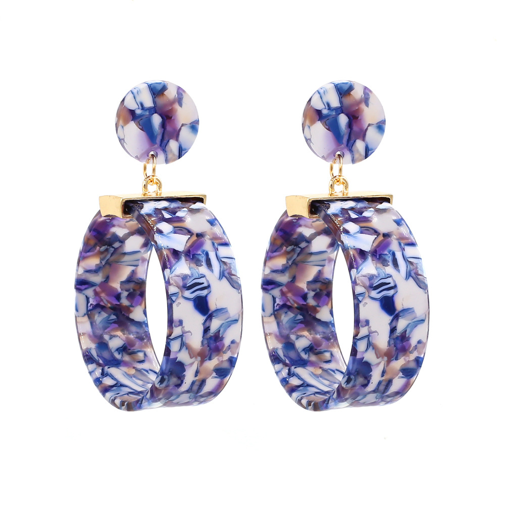 New Fashion Acetate Acrylic Oversize Round Earring for Women 2019 Geometric Hollow Big Circle Drop Dangle Earring Party Jewelry