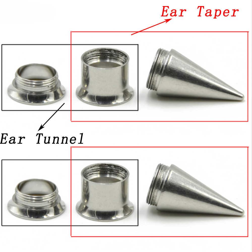 ออกแบบใหม่ 1 เซ็ต/ล็อต Ear Taper อุโมงค์ชุด, 2 in 1 หู Expander ยืด Piercing Body เครื่องประดับ