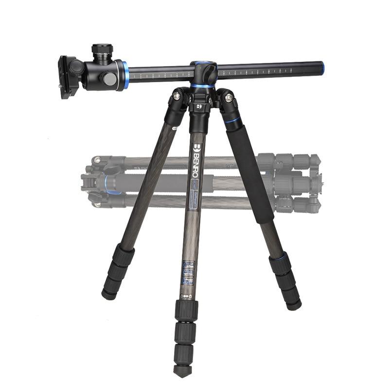 Benro GC168TB1 Carbon Fiber Tripod Monopod For Camera With B1 Ballhead 4 Section Carrying Bag Max Loading 12kg DHL Free Shipping штатив для фотокамеры neewer pu60 slr arca benro b0 b1 b2 j1 j0 ballhead