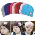 1 pcs de algodão do bebê chapéu do bebê cap crianças gorros meninos meninas infantil das crianças das crianças chapéu do inverno
