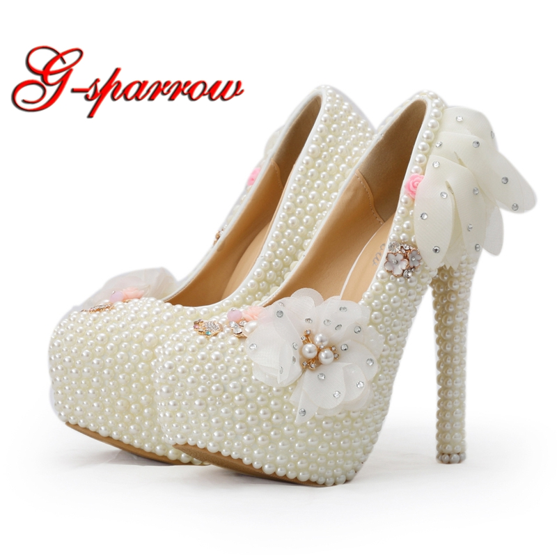 2018 Unique Designer Wedding Shoes White Lace High Heel Bridal Dress Shoes Lady Party Shoes Big Size Prom Party Event Pumps fashion white lace high heel wedding bridal shoes bridesmaid dress shoes elegant party embellished prom shoes lady dancing shoes