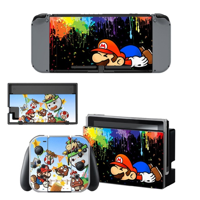 Nintend Switch Vinyl Skins Sticker For Nintendo Switch Console and Controller Skin Set - For Super Mario 3