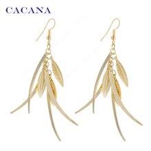 CACANA Dangle Long Earrings For Women Top Quality Fashion Bijouterie Hot Sale No A201 A202