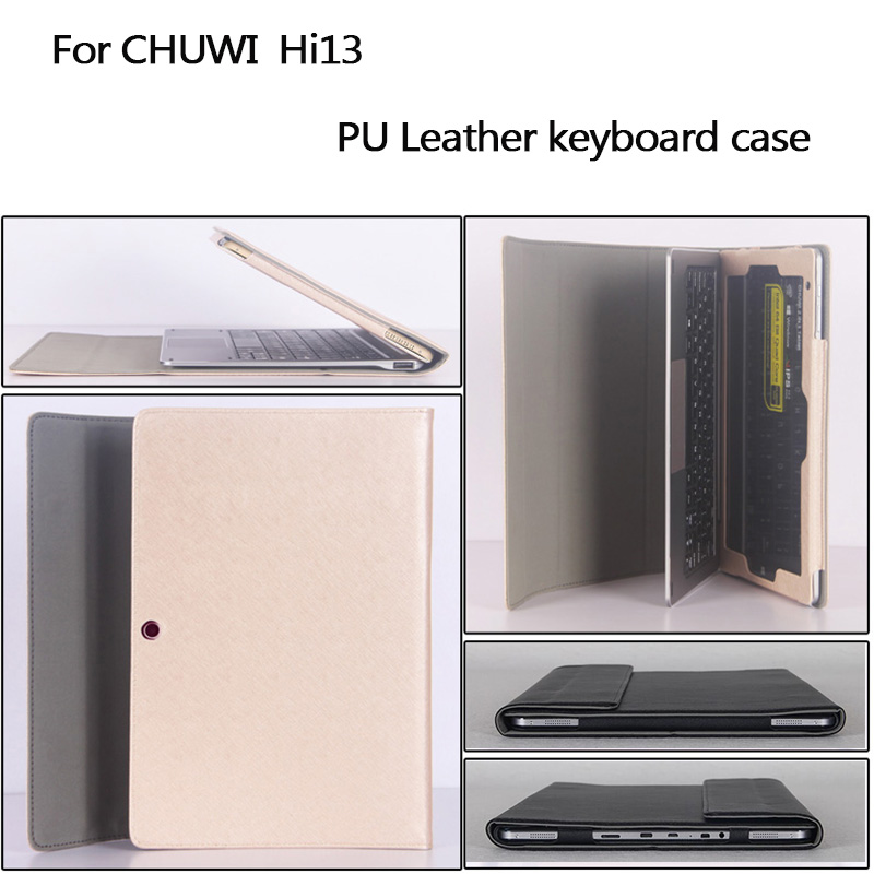 цены на NEW Business stand Pu leather case 13.5 inch for chuwi tablet PC keyboard Protective sleeve for chuwi hi13 tablet
