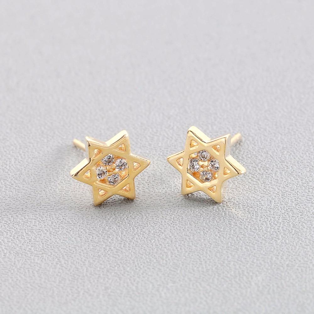 Boucles d'oreille étoile de David  or Israël  1