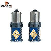 conpex 12V LED Color White Auto Reverse Lamp CANBUS 1156 1157 3030 SMD car Turn Signal Light parking lamp Brake Lights