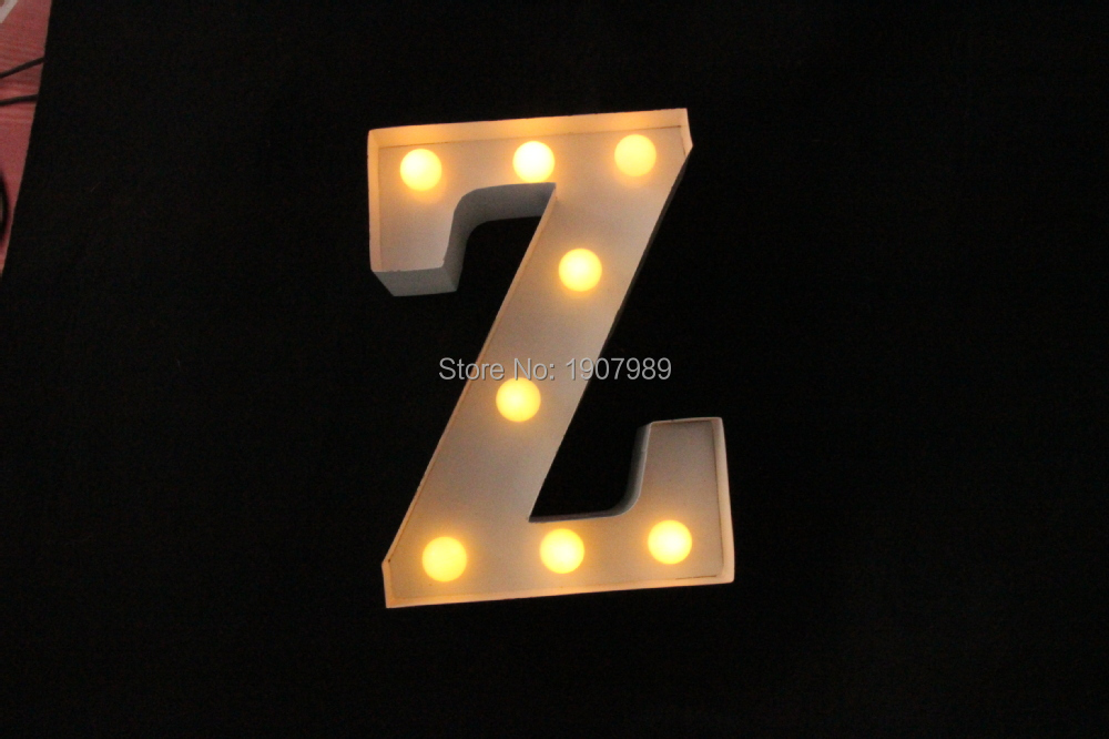 "White Metal Letters Enchanting 9"" White Metal Letters Light Led Alphabet Marquee Sign Vintage Design Decoration"