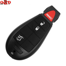 HKOBDII 3+1 Buttons For Jeep Fobik Smart Remote key Chrysler 433Mhz With Uncut Blade and 46 Electronic Chip