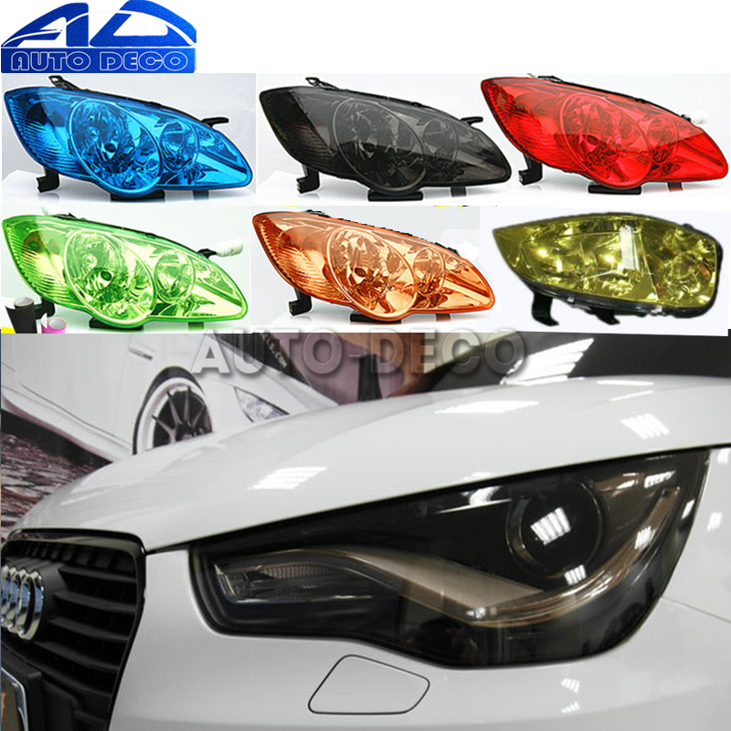 Image 1 - 13 Colors Car Headlight Taillight Fog Light Film Gloss Car Light wrap Headlight Film Sheet  30*200cm-in Car Stickers from Automobiles & Motorcycles
