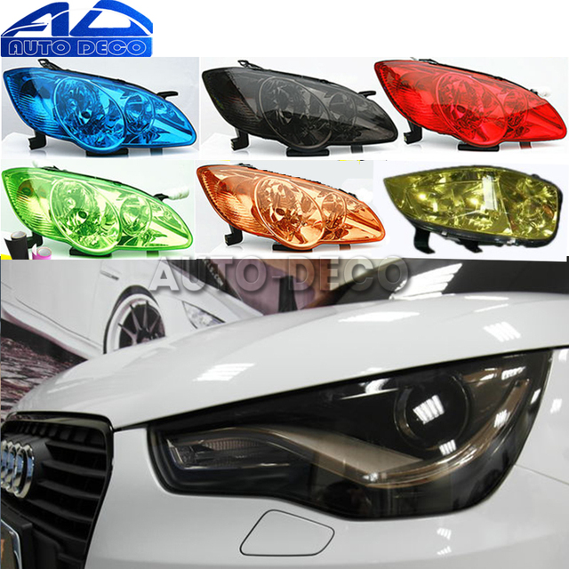 13 Colors Car Headlight Taillight Fog Light Film Gloss Car Light wrap Headlight Film Sheet  30*200cm