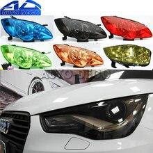 13 kolorów reflektor samochodowy tylne światło przeciwmgielne folia na światła połysk światła samochodowe owinąć głowę folia na światła arkusz 30*200cm
