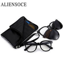 ALIENSOCE Sunglasses Clip Magnetic Sunglasses Frame With Clip Sun glasses Include Frame Polarized Clip on Sunglasses