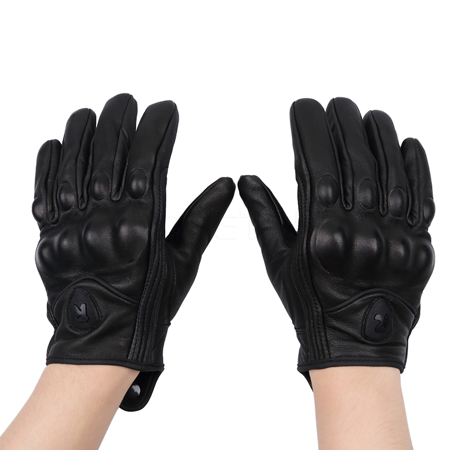 Motorcycle gloves price - Leather Summer Winter Full Finger Motorcycle Gloves Cycling Bike Motorbike Protective Gears Motocross Glove China