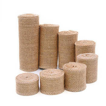 2M Natural Jute Burlap Hessian Ribbon Rolls Vintage Rustic Wedding Decoration Christmas Gift Wrapping Festival Party Home Decor - discount item  24% OFF Festive & Party Supplies