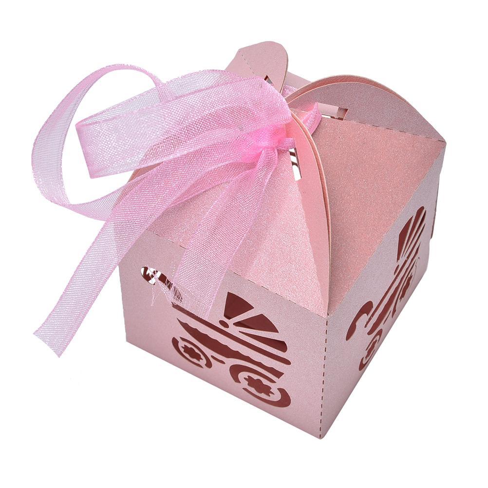 10 pcs Blue/Pink/White Wedding Candy Box Laser Cut Wedding Favor ...