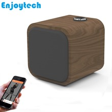 1200mAH 10W Mini Wooden Wireless Bluetooth Speaker Subwoofer MP3 Music Player for iPhone Xiaomi Huawei Android Phones Tablets TV