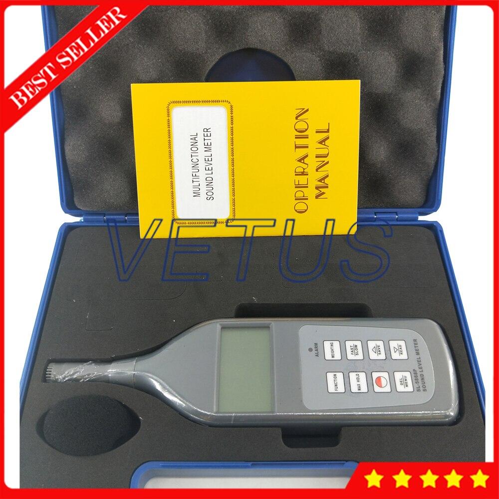 Testeur de sonomètre numérique SL-5868P testeur de sonomètre avec résolution 0.1dB 4 paramètres de mesure - 5