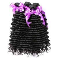 Alishes Brazilian Deep Wave Hair Bundles 100 Deep Curly Human Hair Weaving Double Weft Non Remy
