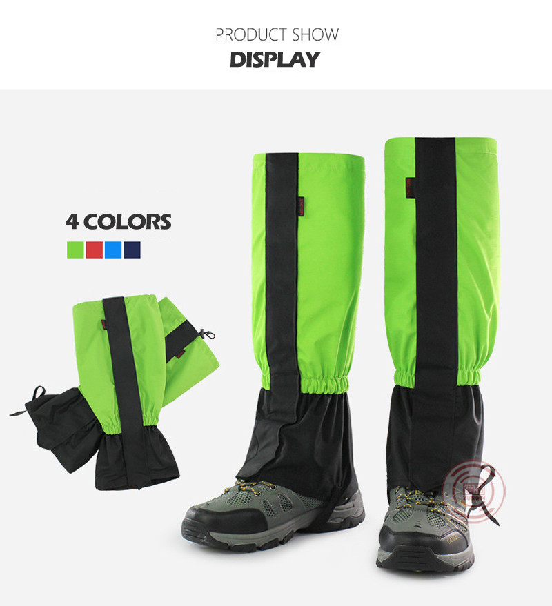 New Waterproof Men Women Kids Cycling Shoe Cover Skiing Boots Gaiters Outdoor Hiking Trekking Climbing Snow Legging Gaiters 8