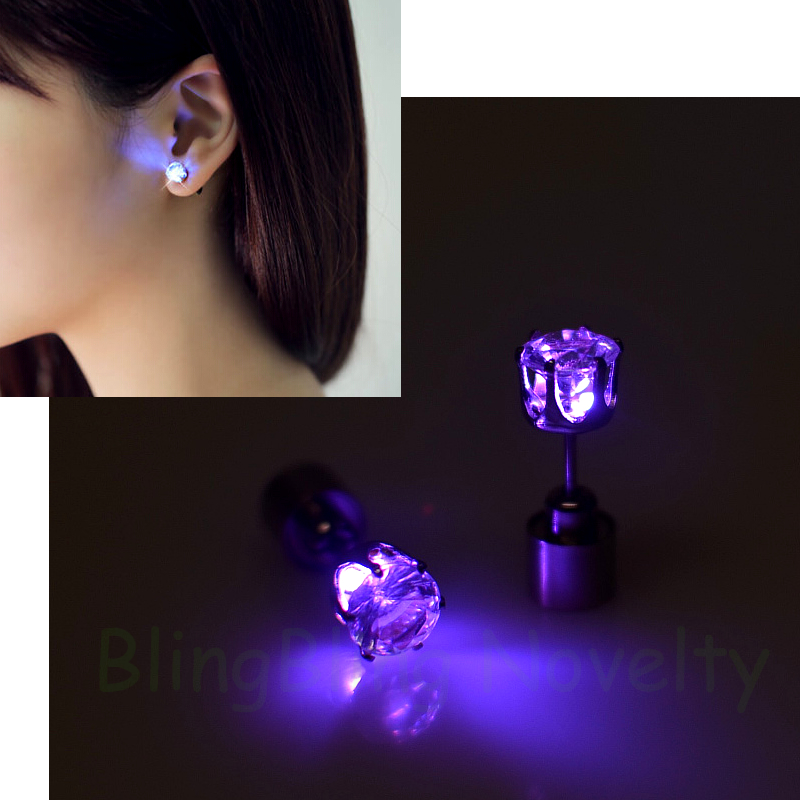 New Fashion Led Earrings Flashing Stud Uni Studs For Men Women In Novelty Lighting From Lights On Aliexpress Alibaba Group