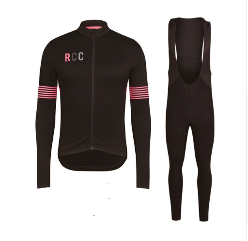 2019 RCC New Man Cycling Jersey Set Spring Autumn Elastic Clothing Quick Dry 9D Gel Pad Long Sleeve Sport Tights Clothes Sets